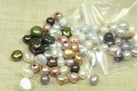 Small grab bag of metallic color Freshwater Pearls
