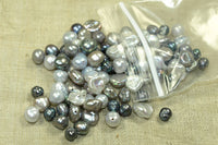 Small grab bag of Silver and Grey Freshwater Pearls