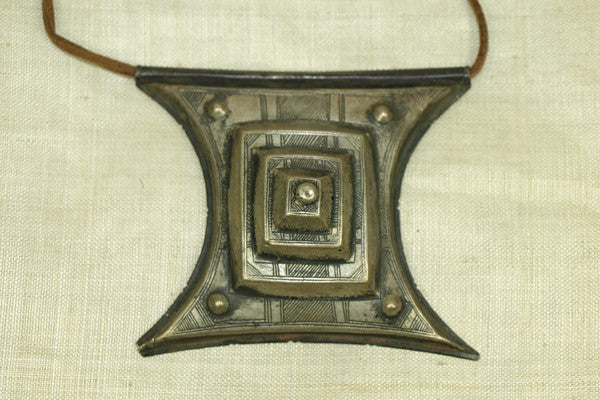 Antique Mixed Metal Tuareg Pendant