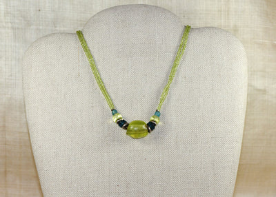 Rare Jonquil Vaseline Necklace by Ruth!