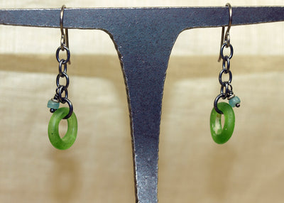 Rare Green Dogon Donut Earrings from Ruth!