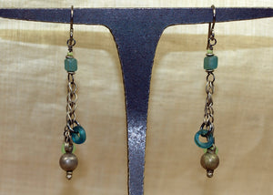 Pair of Antique Afghan Bell with Chain Earrings from Ruth!