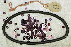 Burgundy Red Belgium 4mm Sequins