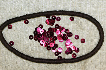 Antique 4mm Fucshia Sequins