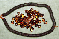 6mm Faceted Vintage Cinnamon Sequins