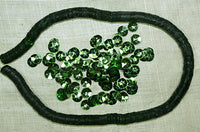 6mm Faceted Vintage Lime Sequins