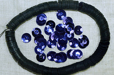 Large 10mm Faceted Purple Sequins