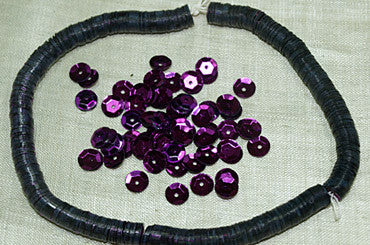 Vintage 6mm Purple Sequins