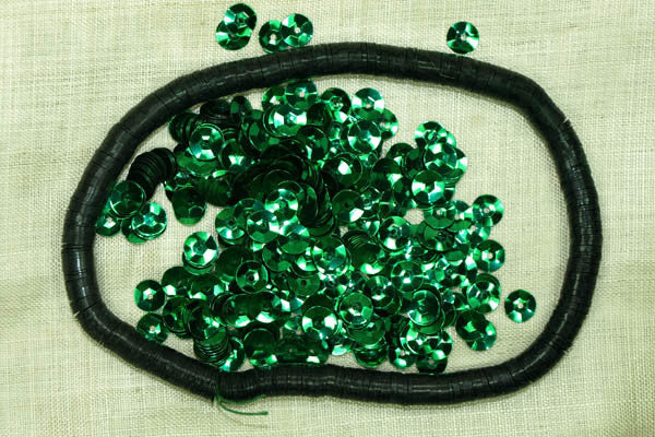 6mm Faceted Emerald Sequins