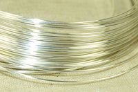 Round Sterling Silver Wire, 22 Gauge half-Hard