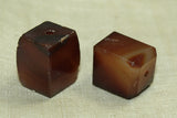 Pair of Chunky Idar-Oberstein Square beads