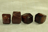 Four Chunky Idar-Oberstein Faceted beads