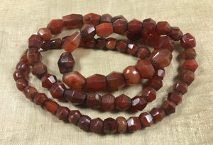Strand of small Idar-Oberstein Faceted Bicone beads