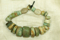 Strand of Ancient Amazonite Stone Beads, Mali