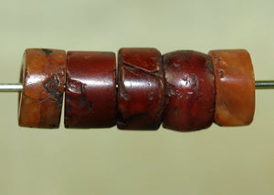 Set of Ancient Carnelian Stone Beads from Mali
