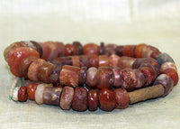 Strand of Ancient Carnelian and Quartz Beads Excavated from Mali