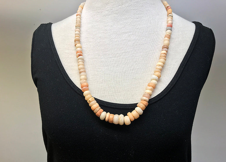 Strand of Ancient Quartz and Carnelian Beads