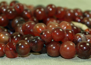 Lovely Antique Indian Carnelian Stone Bead Strand