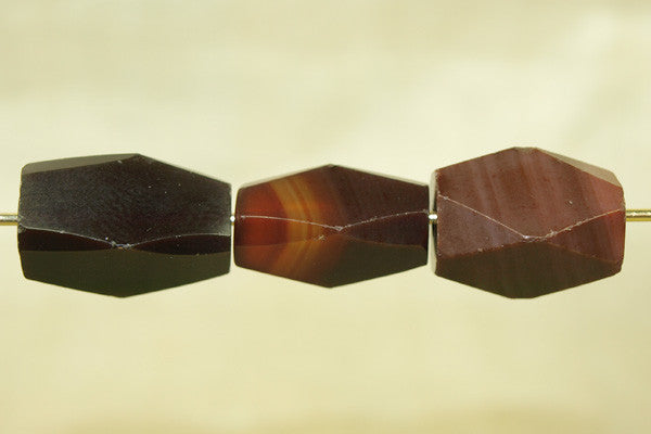 Faceted Shape Carnelian Stone