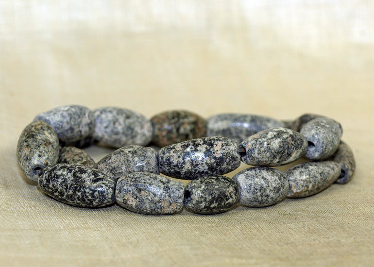 Beautiful Half Strand of Ancient Granite Beads Djenne, Mali