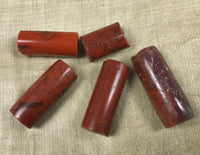 Set of Five Antique Nigerian Red Jasper Beads
