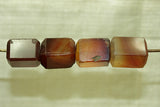 Faceted Carnelian Bead