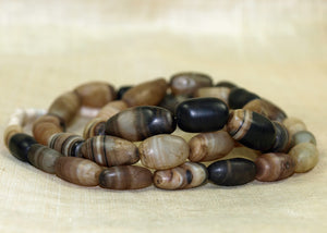 Striped Agate Beads from India