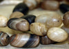 Strand of Striped Agate Beads from India