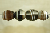 Set of antique Idar-Oberstein Banded Agate Beads