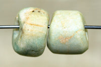 Pair of Ancient Chunky Amazonite Beads