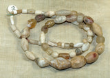 Strand of Ancient Quartz Stone Beads from Mali