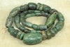 Strand of Gorgeous Green Ancient Amazonite Stone Beads