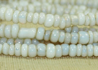 Gorgeous Grey and Opal-White, Irregular 8º Seed Beads