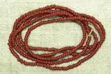 Opaque Red-Brown Seed Beads, 12º