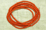 Czech opaque orange seed beads, 11º