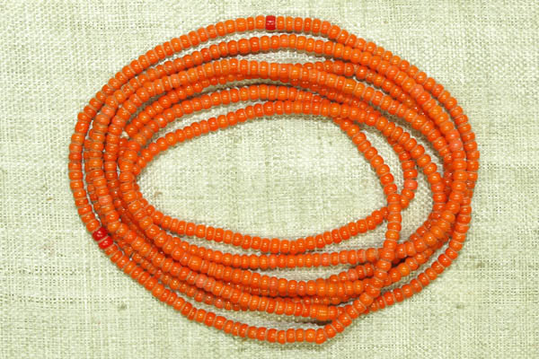 Czech opaque orange seed beads, 12º
