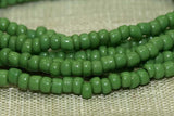Antique Czech Green Seed Beads, 10º