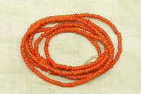 Venetian Seed Beads, 10º Opaque Dark Orange