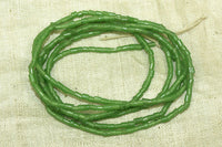 Grass green Seed Beads, small bugles