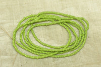 14º bright green Czech-made seed beads