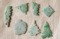 10 Assorted Jade Buttons