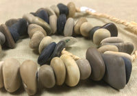 Strand of Smooth Lake Stone Pendant/Beads