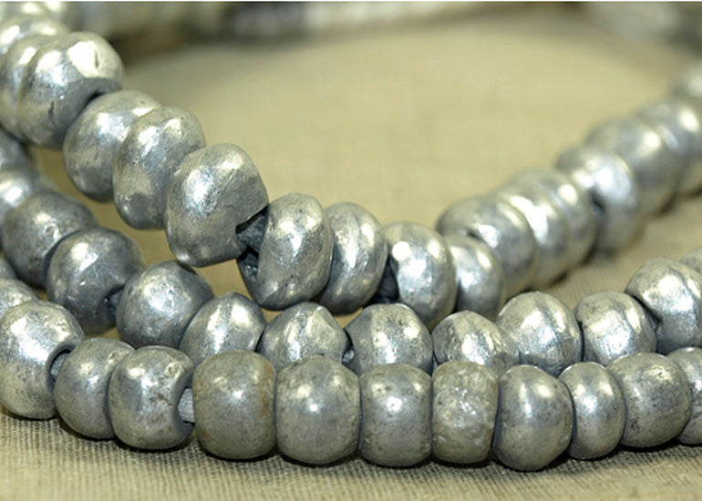 Shiny Cast Aluminum Beads from Kenya
