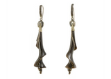 Pair of Shell Pendants; Carved Water Bullalo Horn; from the Lou Zeldis Studio
