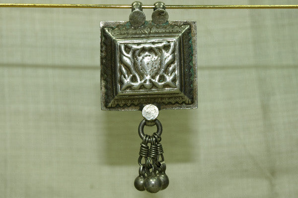 Silver Prayer Box Pendant from India