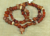 Strand of Ancient Carnelian Beads from Afghanistan