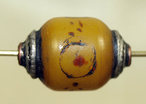 "Tibetan ""Amber"" with Sterling Cap"