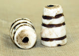 Antique Conch Shell Bead from Tibet