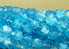9mm Vintage German Light Aqua Bumpy Beads
