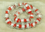 Vintage Japanese Foil Lamp Wound Glass Beads